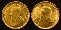 Lot 6-Two South Africa, 1/10 Krugerrands, 1984 and 1985.