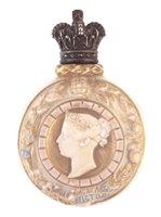 Lot 65-Royal Worcester  Jubilee flask