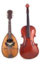 Lot 23-Bowl back mandolin and a viola