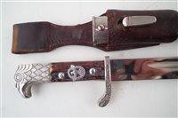 Lot 219-German Third Reich rural police bayonet