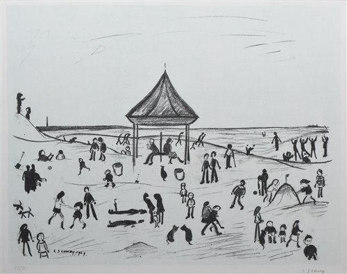 """189 - L. S. Lowry, """"The Pavilion"""", signed lithograph."""