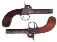 Lot 12-Two Percussion box lock pistols