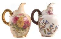Lot 66-Two Royal Worcester flat back jugs