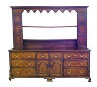 361 - George III oak dresser.