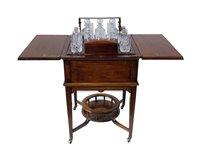 342 - Edwardian mahogany surprise drinks table.