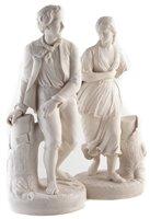Lot 37-Pair of Copeland Parian figures