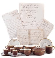 Lot 38-Collection of Rockingham brown glaze ware