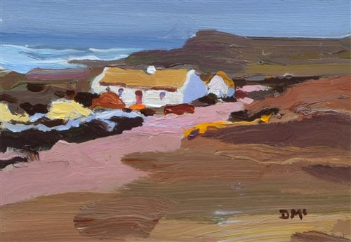 "235 - Donald McIntyre, ""Croft by the Sea"", acrylic."