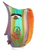 Lot 201-Murano glass face vase