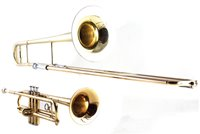 Lot 55-Blessing Scholastic Trombone, together with a Arbiter Trumpet both with cases