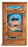 Lot 7-Oliver Whales 'Win Spangles' penny slot pinball machine