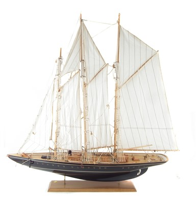 "Lot 192-Model of a J class three mast sailing boat, 91cm (36"") long."