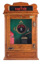 Lot 16-The Smithy penny slot flick machine reproduction
