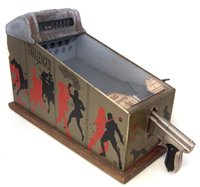 Lot 19-Challenger 1 cent table top pistol pinball machine, by A.B.T Manufacturing Chicago