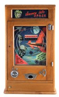 Lot 37-Parkers Automatic Supplies 'Journey into Space' penny slot pinball machine