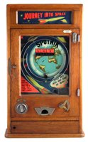 Lot 44-Parkers Automatic Supplies 'Journey into Space' penny slot pinball machine