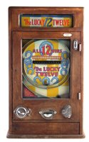 Lot 45-Oliver Whales Lucky Twelve penny slot pinball machine