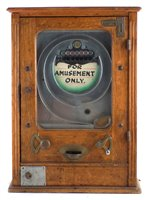 Lot 46-For Amusement Only Allwin penny slot machine