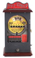 Lot 48-Play Poker 'Game of Skill' reproduction counter top slot machine