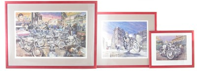 "Lot 133-Three limited edition prints after Roy Barrett ""The Roxy"", ""Streetfighters"" and ""Bluebird Cafe""."