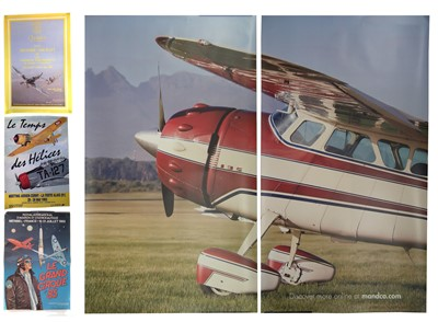 Lot 134-Three flying posters and one other.