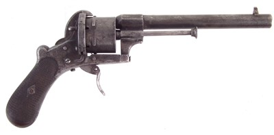 Lot 50-Pin fire revolver fitted into a Victorian case