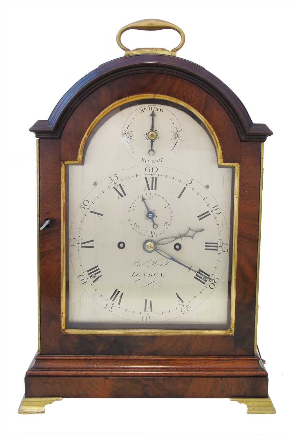 Lot 289-Robert Wood London (1828-32) bracket clock, double fuse 8-day movement