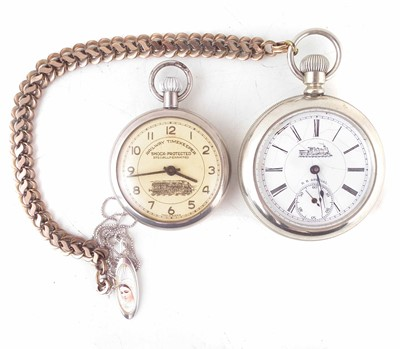 Lot 188-Railway timekeeper pocket watch (Made in Austria) and Morain Watch Co.., RR special pocket watch, Swiss made