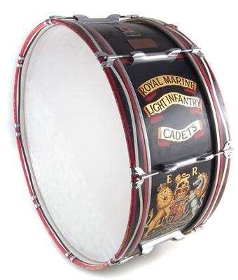 Lot 35-Premier Royal Marine Light Infantry Cadets Bass drum