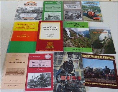 Lot 148-A collection of booklets and pamphlets on railways.