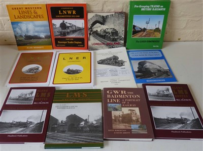 Lot 150-Collection of books and pamphlets  on railways  to LMS, GWR and LNER and railways in Scotland.