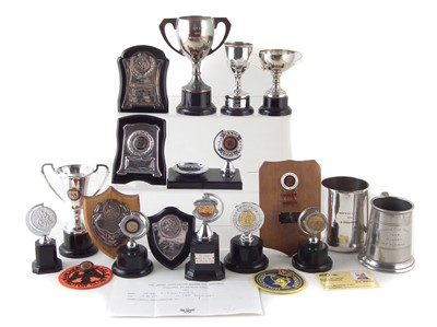 Lot 202-Collection of trophies Manchester Eagle Motor Club