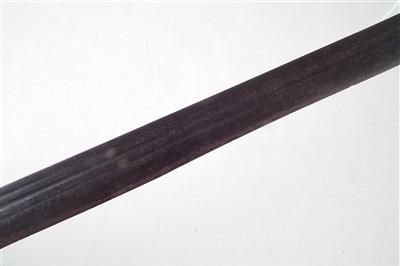 Lot 145-Basket hilted mortuary sword