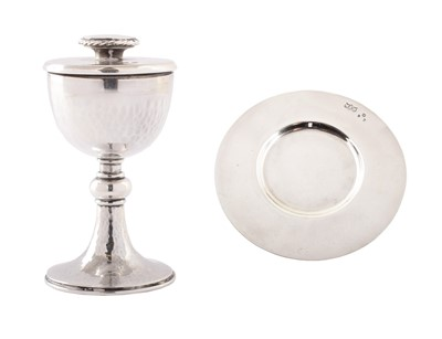 Lot 43-A silver miniature covered goblet