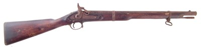 Lot 32-Indian Enfield percussion carbine