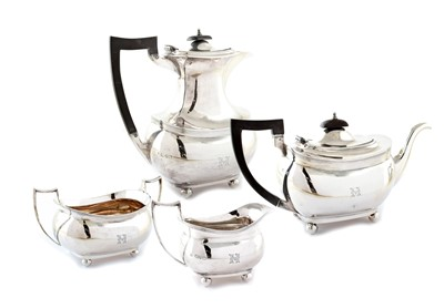 Lot 22-Four piece tea set by Barker Bros