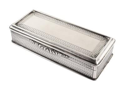 Lot 9-Georgian silver snuff box.