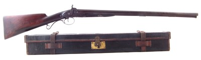 Lot 26-Double percussion shotgun by Patrick of Liverpool with case