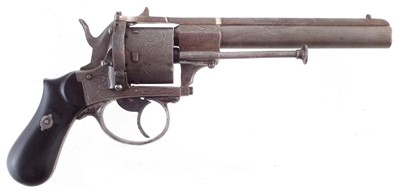 Lot 49-Belgian Pinfire revolver circa 1865, 9mm calibre