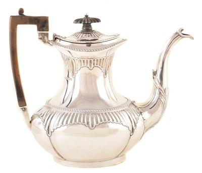Lot 28-A Victorian silver coffee pot
