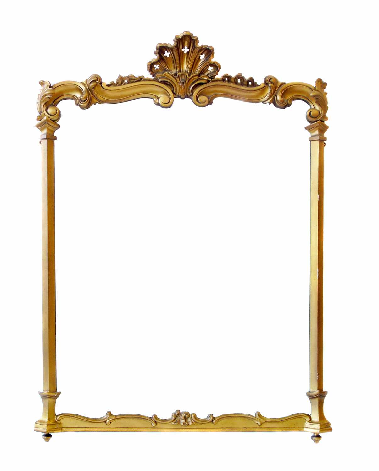 Lot 629-Victorian over-mantel mirror.