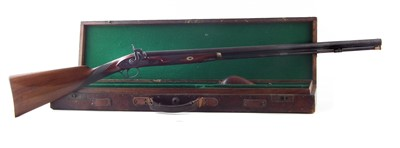 Lot 23-Percussion sporting gun fitted into a period case