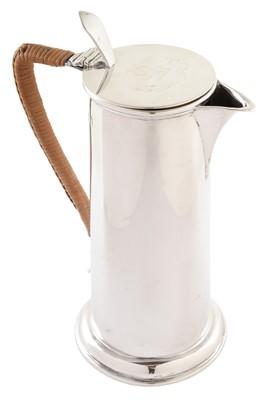Lot 49-Edwardian silver hot water jug by Goldsmiths & Silversmiths