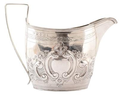 Lot 37-Georgian silver cream jug.