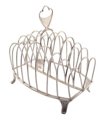 Lot 17-Georgian silver toast rack.