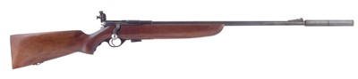 Lot 51-Mossberg .22 bolt action rifle with moderator serial number 4946