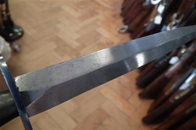 Lot 147-Fairbairn Sykes 2nd Pattern commando knife and scabbard