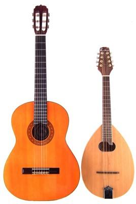 Lot 40-Concorde classical guitar and a Blue Moon Octave Mandolin