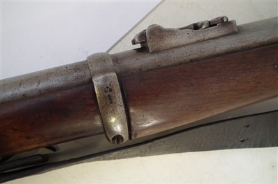 Lot 30-Enfield pattern 1856 Percussion Sergeant's two band .577 rifle