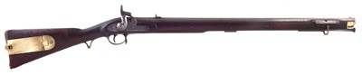 Lot 18-3rd pattern percussion Brunswick Rifle by London Small Arms Company